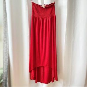 Michael Kors Red Maxi Tube Dress